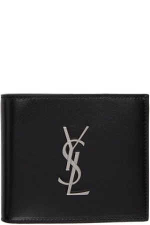 Saint Laurent: Black Monogramme East/West Wallet | SSENSE