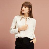 Everlane 奶白色丝绸衬衫