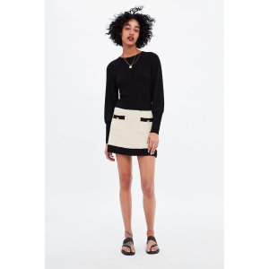 ZaraMINI SKIRT WITH CONTRASTING PIPING Details