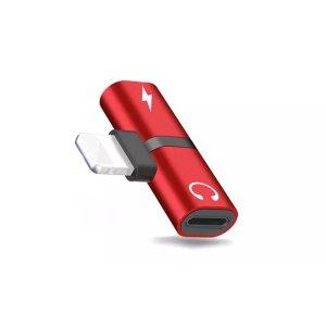 耳机充电转换器 红