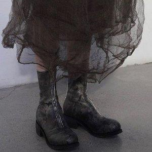 部分5折+额外9折Guidi 先锋工匠鞋履特卖 后拉链短靴$881,收PL1稀有色
