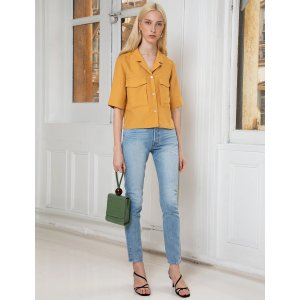 Pixie MarketMarigold Yellow Cargo Crop Shirt