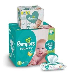 立减$10Pampers 婴儿尿不湿+湿巾336抽