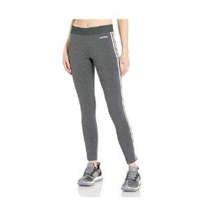 xs码$13.69(原价$45)adidas Essentials系列 女款三条杠紧身裤 92%棉亲肤舒适