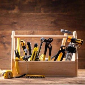 4.6折起 磁性护腕€7.69Amazon 工具箱限时促 居家必备维修工具 140件套低至€35.18