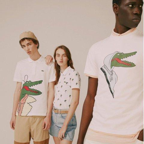 一律7折 全新趣玩创意世界Lacoste Croco Series艺术家联名系列服饰特卖