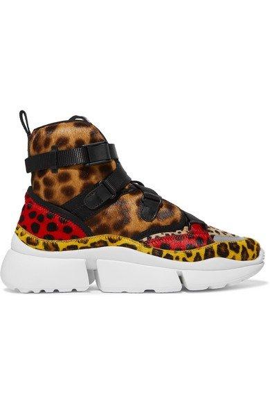 豹纹老爹鞋