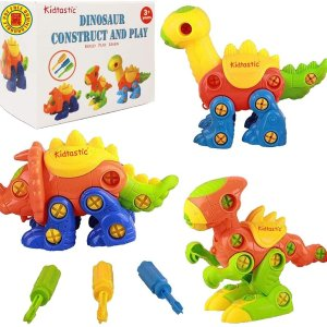 Kidtastic Dinosaur Toys Construction Engineering Building Play Set