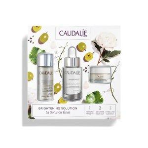 Caudalie葡萄籽提取物、有效抑制黑色素、淡斑美白精华套装 价值$132