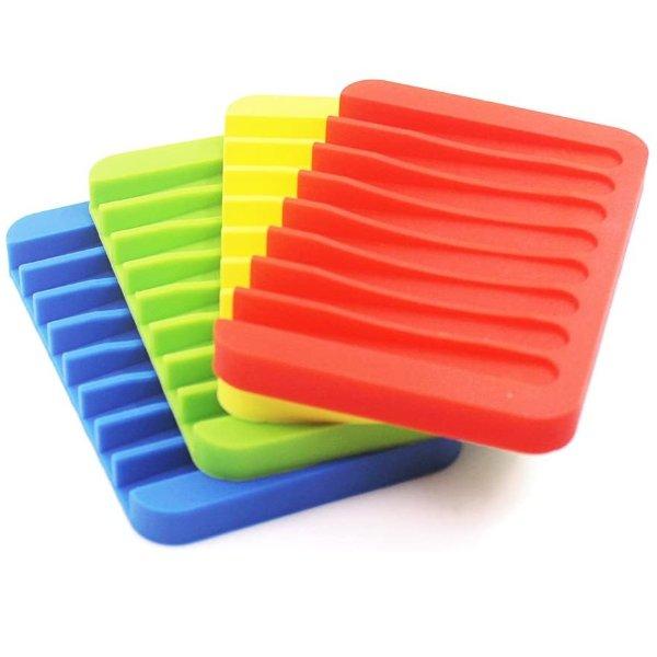 SENHAI 硅胶不积水香皂盒2个