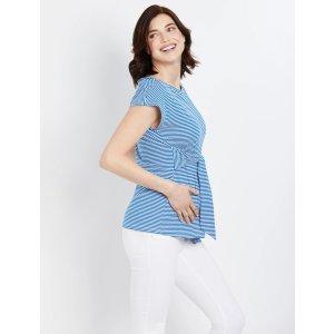 Motherhood MaternityStriped Tie-Front Maternity Top