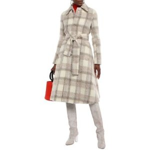 Acne Studios格纹羊毛大衣