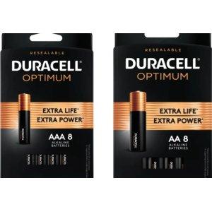 Duracell Optimum AA / AAA Alkaline Battery (8-Pack)