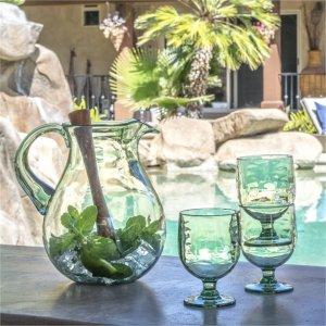 低至7折 红酒杯$5.6起Indigo 夏日清凉玻璃杯热卖 ins风印花水杯