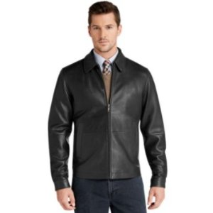 Signature Collection Traditional Fit Leather Jacket