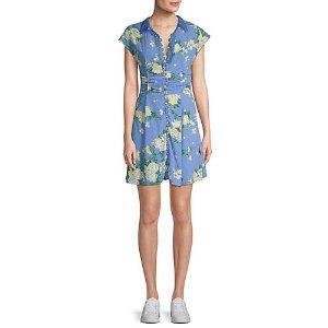 Free PeopleAlora Floral Print Mini Dress