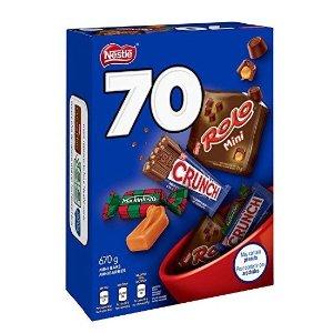 现价$8.97(原价$9.99)NESTLÉ 雀巢 家庭装迷你巧克力 70颗 3种口味