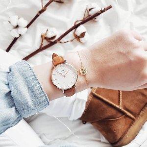 全场8折!折扣区可叠加 经典款手表£79Daniel Wellington 手表&配饰全线特卖 极简设计搭出精致感