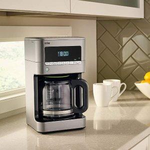 $99.99(原价129.99)史低价:Braun KF7170SI BrewSense 12杯量滴滤式不锈钢咖啡机