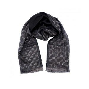 Gucci- Dark Navy GG 羊毛围巾