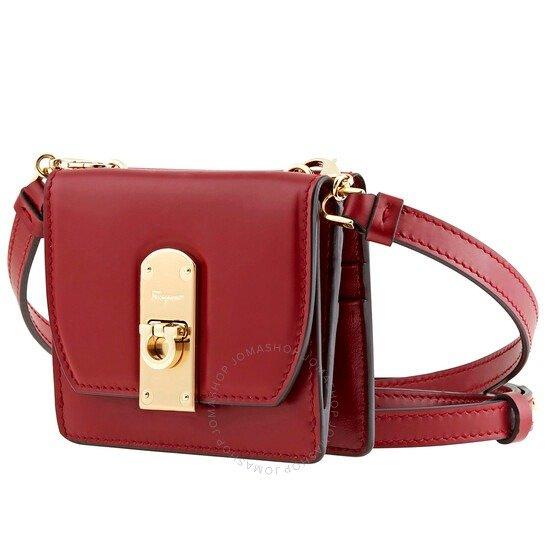 Ladies Small Boxyz红色斜挎小包