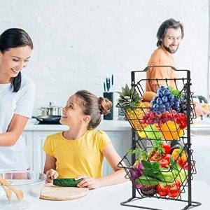 5折起 封面收纳篮$21Amazon 厨房收纳好物合集 让无处安放的食物回家