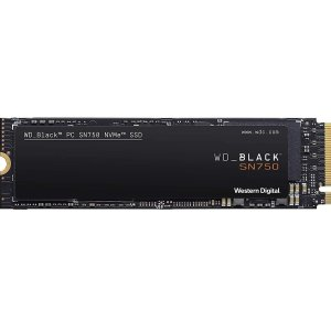 WD 500GB Black SN750 NVMe M.2 Internal SSD