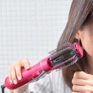 Tescom吹头发的同时 造型就做好啦~ 带转换头负离子吹风梳(含山茶花精油)