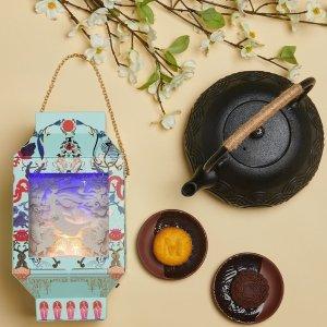 现价$72 店面开始现售新品上市:Lady M 灯笼月饼礼盒,动画片联名,活泼又静雅