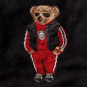 低至5折 卫衣£104 大童款£87Ralph Lauren官网 小熊图案专场热卖 可可爱爱没有脑袋