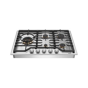 """ROBAMG513 30"""" Gas Cooktop Stove with 5 Italian-Made DEFENDI Burners (Pure Copper) 