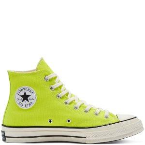 Converse荧光绿高帮帆布鞋