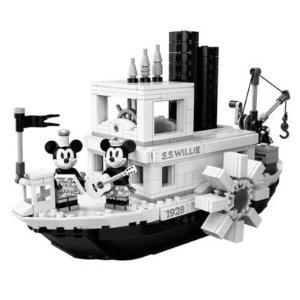 $89.99  四月一日上市预告:乐高官网 威利号蒸汽船21317,米奇90周年