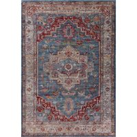 KAS Rugs Ashton Blue/Grey Taylor 2 ft. x 3 ft. Area Rug