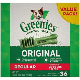 $71.97 平均$23.99/盒Greenies 狗狗洁牙棒36oz 3盒 近史低价