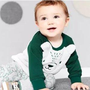 包邮 4-5折+满额7.5折即将截止:Carter's官网 婴儿秋冬套装热卖,有上新