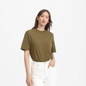 Everlane橄榄绿短袖衬衫