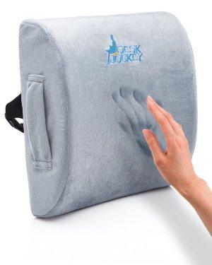 $25.49闪购:史低价!Desk Jockey高级治疗级腰部记忆泡沫支撑垫