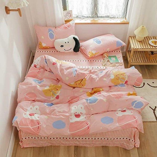 纯棉被罩床品3件套 Twin