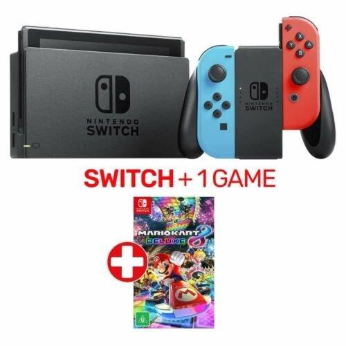 Nintendo Switch 红蓝 游戏机 + 1 Game