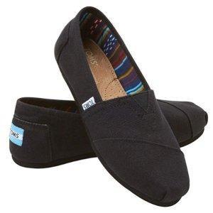 $32.42TOMS 黑色女士经典帆布鞋