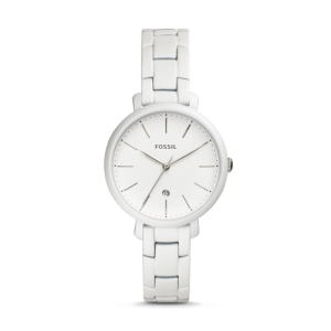 Fossil Three-Hand White Stainless Steel Watch
