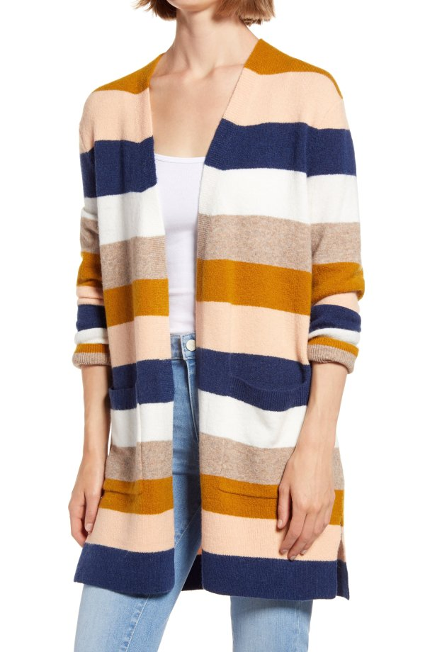 羊毛混纺开衫