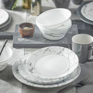 CorelleStone Grey 16-piece Dinnerware Set, Service for 4