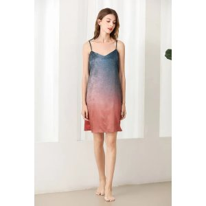 Ecru Emissaryget $25 back with $288Lykke Home   19 Momme Mulberry Silk Starry Dress
