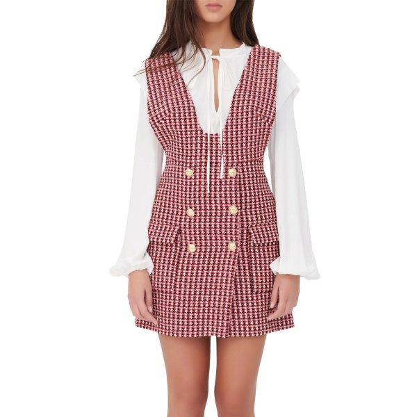 Tweed Pinafore 连衣裙