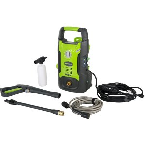 $99.59(原价$127.69)史低价:Greenworks GPW1602 1600 PSI 泡沫壶 电动高压清洗机