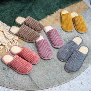 patpat天鹅绒室内保暖拖鞋 多色可选