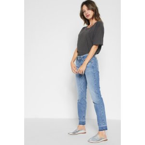 Ankle Skinny with Trouser Released Hem in East Village - 7FORALLMANKIND