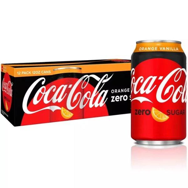 罐装香草橙味零度可口可乐 12oz 12罐装